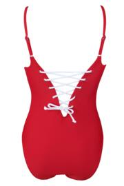Getaway Strapped Swimsuit - Red