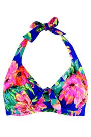 Heatwave Halter Underwired Top - Amalfi