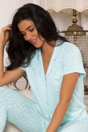Mini Maxi Short Sleeve Pyjama Top - Aqua