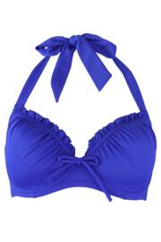 Santa Monica Lightly Padded Halter Underwired Top - Ultramarine