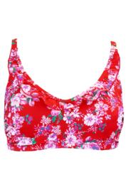 Santa Monica Underwired Cami Top - Red Floral