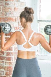 Energy Non Wired Full Cup Sports Bra - White
