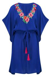 Heatwave Embroidered Kaftan - Amalfi
