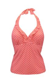 Hot Spots Underwired Tankini Top - Coral