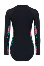 Reef Long Sleeve Paddle Swimsuit - Black/Red