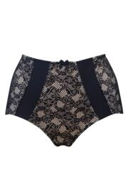 Superfit Lace Deep Brief - Black/Nude