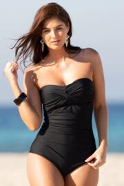 Santa Monica Strapless Control Swimsuit - Black