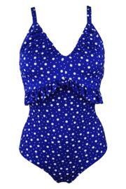 Mini Maxi Frill Control Swimsuit - Ultramarine