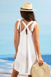Escape Tie Shoulder Beach Dress - White