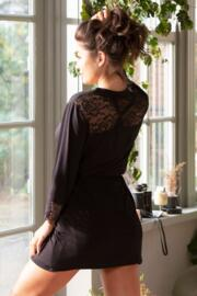 Sofa Love Lace Back Detail Wrap  - Black