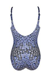 Geo Animal Control Swimsuit - Blue Print