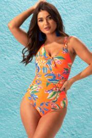 Heatwave Scoop Neck Control Swimsuit  - Zest