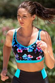 Energy Lightly Padded Underwired Sports Bra - Blue/Pink