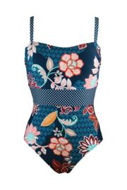 Reef Control Printed Swimsuit - Navy