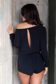 Sofa Love Long Sleeve Playsuit - Black