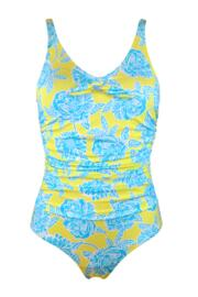 Heatwave Scoop Neck Control Swimsuit  - Sunshine