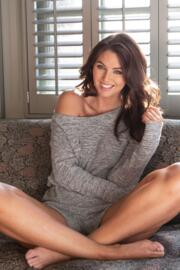 Sofa Love Marl Long Sleeve Playsuit - Grey Marl