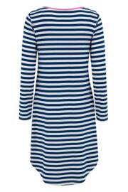 Jersey Stripe Long Sleeve Secret Support Nightdress - Navy/Pink