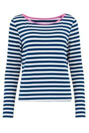 Jersey Stripe Pyjama Set - Navy/Pink