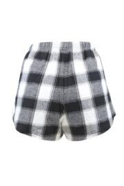 Cosy Check Short Pyjama Set - Black/White