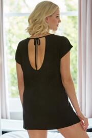 Sofa Love Tie Back Detail Oversized Tee - Black