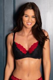 Allure Underwired Bra - Black/Red