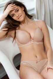 Lyla Boost Padded Plunge Bra - Nude