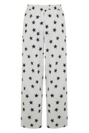 Jersey Star Short Sleeve Pyjama Set - Black/White