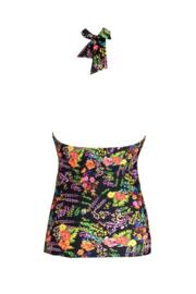 Hot Spots Underwired Tankini Top - Black Floral