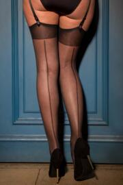 Illicit Vintage 15 Denier Back Seam Stocking - Black