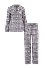 Cosy Check Pyjama Set - Grey/Pink