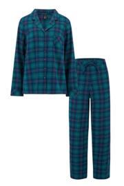 Cosy Check Pyjama Set - Navy/Green