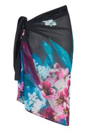 Orchid Luxe Sarong - Cassis