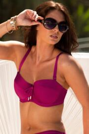 Coco Beach Strapless Lightly Padded Top - Cassis
