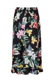 Woven Frill Wrap Skirt - Black