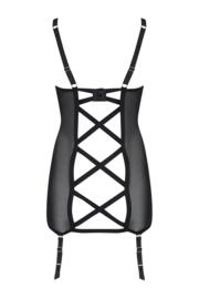 Intense Open Back Cami Suspender - Black