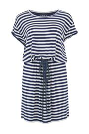 Jersey T-Shirt Dress - Navy/White