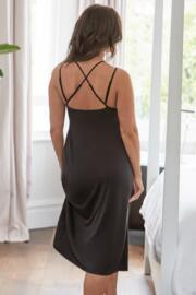 Sofa Love Secret Support Midi Cross Back Chemise - Black
