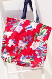Canvas Beach Bag - Red