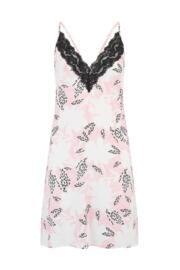 Wild Floral Lace Detail Chemise - Pink Print