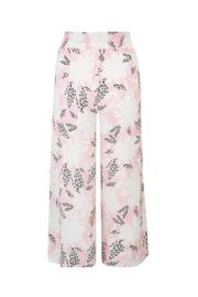 Wild Floral Cropped Trouser - Pink Print