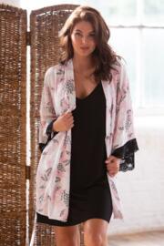Wild Floral Lace Detail Wrap - Pink Print