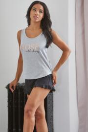 Rose All Day Jersey Short PJ Set - Grey