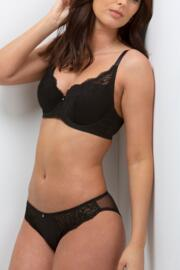 Opera Lightly Padded Balconette Bra - Black