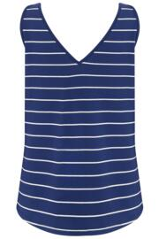 Jersey V Neck Vest - Navy Stripe