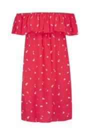 Textured Bardot Beach Dress - Sunset Beach