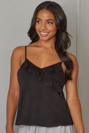 Mix & Match Frill Detail Secret Support Camisole - Black