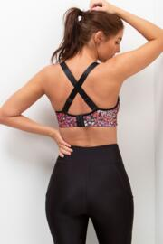 Energy Underwired Lightly Padded Convertible Sports Bra - Ditsy