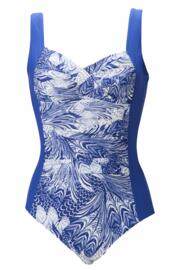 Twisted Front Swimsuit - Blue