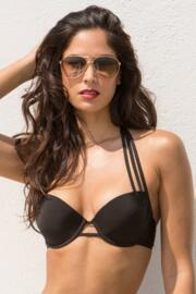 Siren Strapped Padded Top - Black